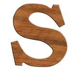 Alphabet en bois, isolé sur fond blanc. — Photo