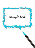Comics bubble and pen isolated on white background — Foto de Stock