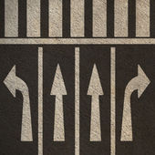 Directional Street Arrows Pedestrian Crosswalk — Stock Photo