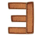 Leather alphabet isolate on white — Stock Photo