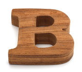 Alphabet made from wood on white — Stock Photo