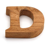 Alphabet made from wood on white — Стоковое фото