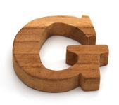 Alphabet en bois blanc — Photo