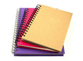 Stack of ring binder book or notebook isolated on white backgrou — Stock Photo
