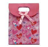 розовый подарочная сумка — Стоковое фото
