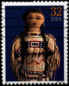 USA - CIRCA 1997 : Stamp printed in the USA shows Plains Indian  — Foto Stock