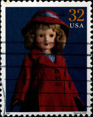 USA - CIRCA 1997 : Stamp printed in the USA shows American Child — 图库照片