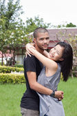 African man and asian woman lover — Photo