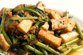Delicious Chinese vegetarian with bean curd — Stock Photo