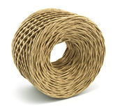 Roll of rope isolated on white — Stock Photo