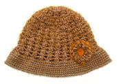 Knitted wool hat isolated on white — 图库照片