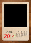 Calendar 2014 on the Empty old photo — Stock fotografie