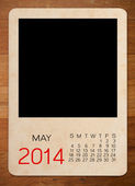 Calendar 2014 on the Empty old photo — Photo
