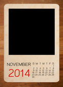 Calendar 2014 on the Empty old photo — Foto Stock