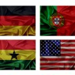 Wave flags for soccer championship 2014. Groups G — Stock Photo #44397885