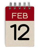 12 feb calendar — Stock Photo
