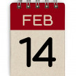 14 feb calendar — Stock Photo