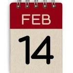 14 feb calendar — Stock Photo #45172775