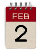 2 feb calendar — Foto Stock