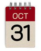 31 Okt-Kalender — Stockfoto