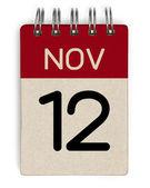 November Kalender — Stockfoto