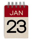 23 jan calendar — Stock Photo