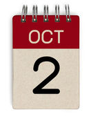 Okt-Kalender — Stockfoto