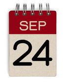 September Kalender — Stockfoto