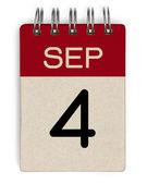 Sep calendar — Stock Photo
