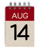 Aug-Kalender — Stockfoto