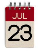 Juli Kalender — Stockfoto