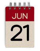 Jun-Kalender — Stockfoto