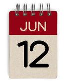 Календарь Июнь — Стоковое фото