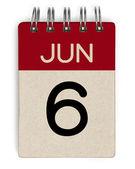 Calendario di giugno — Foto Stock