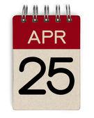 25 Apr-Kalender — Stockfoto