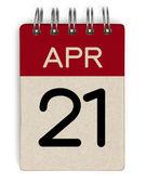 21 Apr-Kalender — Stockfoto