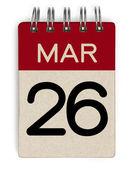 26 Mar Kalender — Stockfoto
