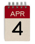 4 Apr-Kalender — Stockfoto