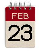 23 feb calendar — Stock Photo