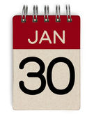 30 jan calendar — Stock Photo