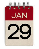 29 jan calendar — Stock Photo