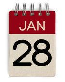 28 jan calendar — Stock Photo