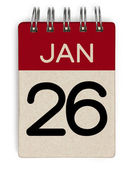 26 jan calendar — Stock Photo