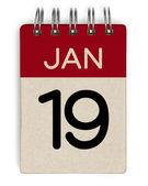 19 jan kalender — Stockfoto