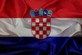 Kroatien grunge viftande flagga — Stockfoto