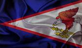 American Samoa grunge waving flag — Stock Photo