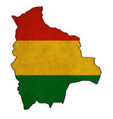 Bolivia map on Bolivia flag drawing ,grunge and retro flag serie — Stock Photo