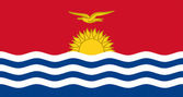 Kiribati flag drawing by pastel on charcoal paper — Stock Photo