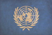 United Nations flag drawing ,grunge and retro flag series — Stock Photo