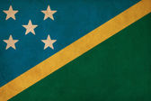 Solomon Islands flag drawing ,grunge and retro flag series — Stock Photo